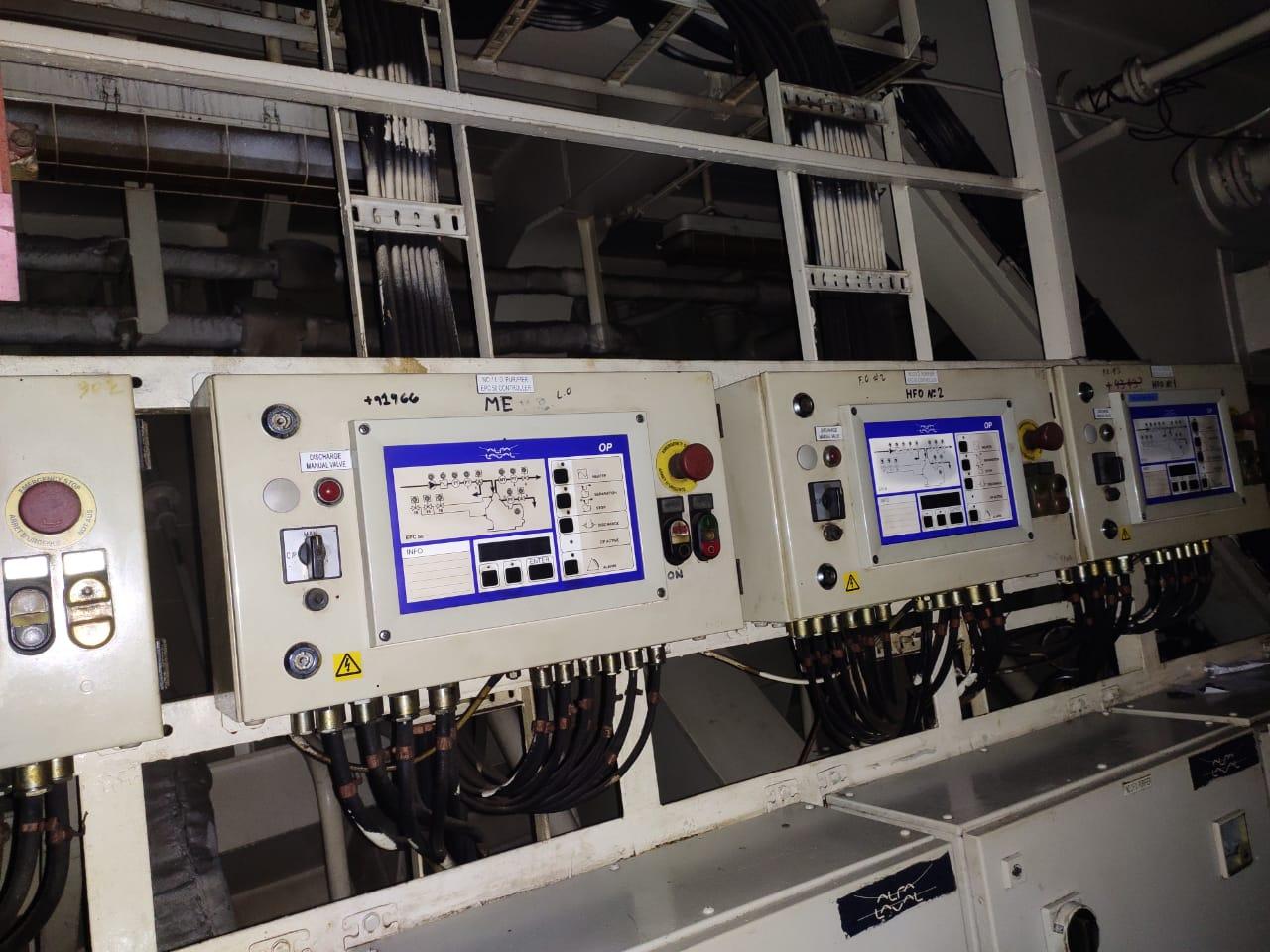 (5) Alfa-Laval EPC-50 control units.