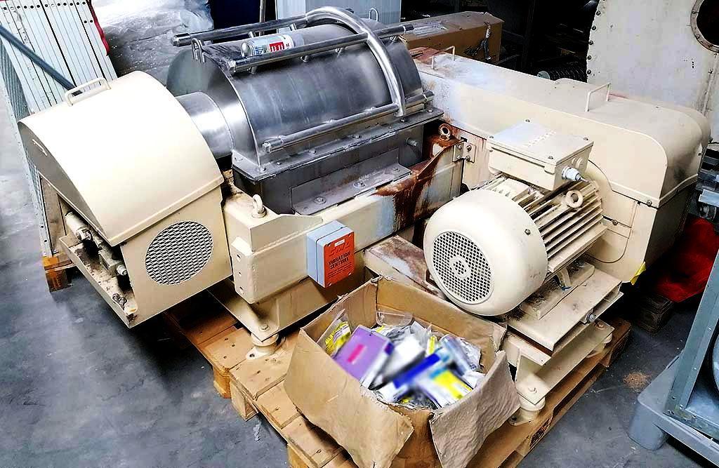 (2) Sharples P2000 sanitary decanter centrifuges, 316SS.