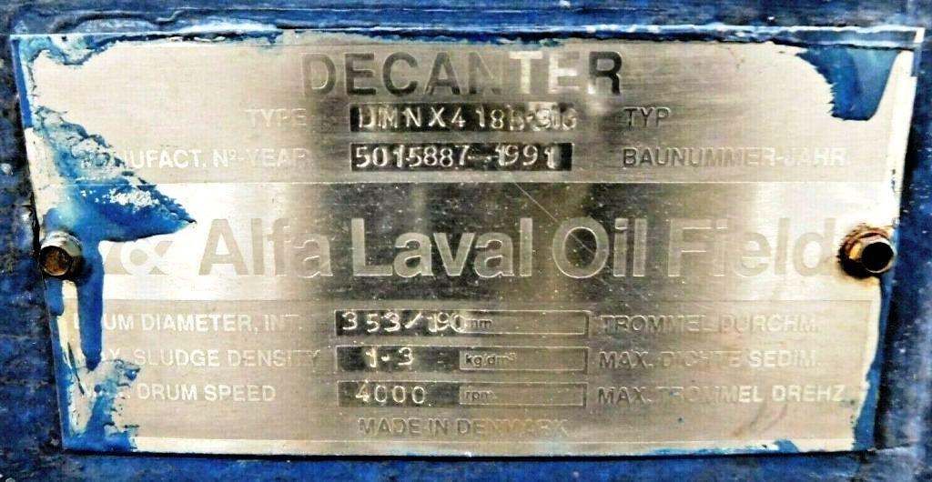 Alfa-Laval DMNX 418B-31G XP oilfield skid, 316SS.