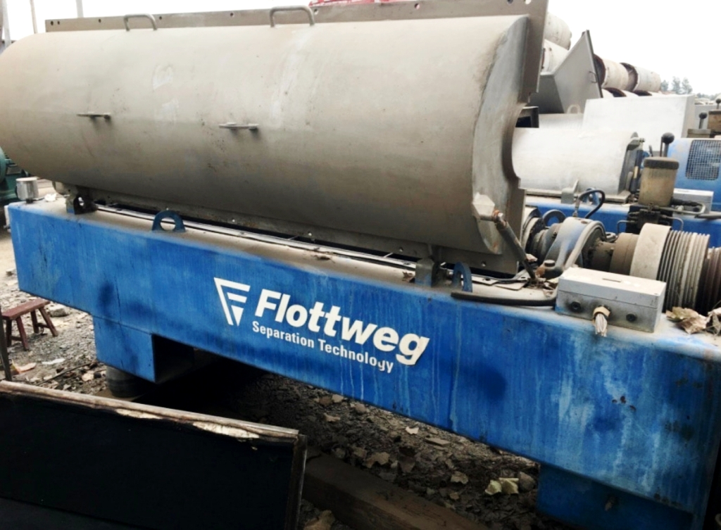(3) Flottweg Z4E-4/441 slop oil tricanters, 316SS.