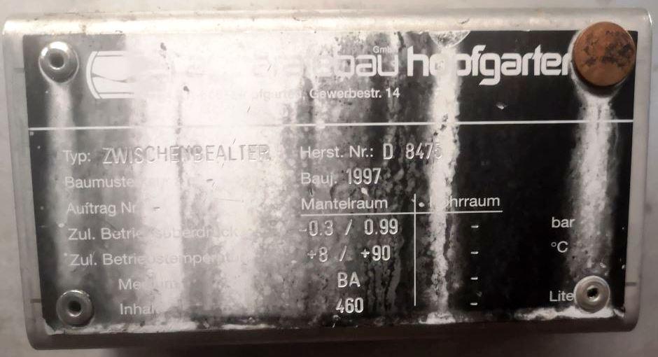 (2) Westfalia CA 366-29-00 extraction decanters, 316SS.