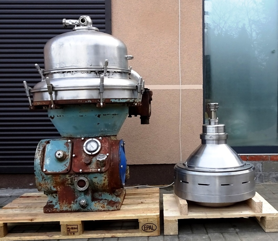 Alfa-Laval BRPX 313 XGD-74 oil concentrator, 316SS.