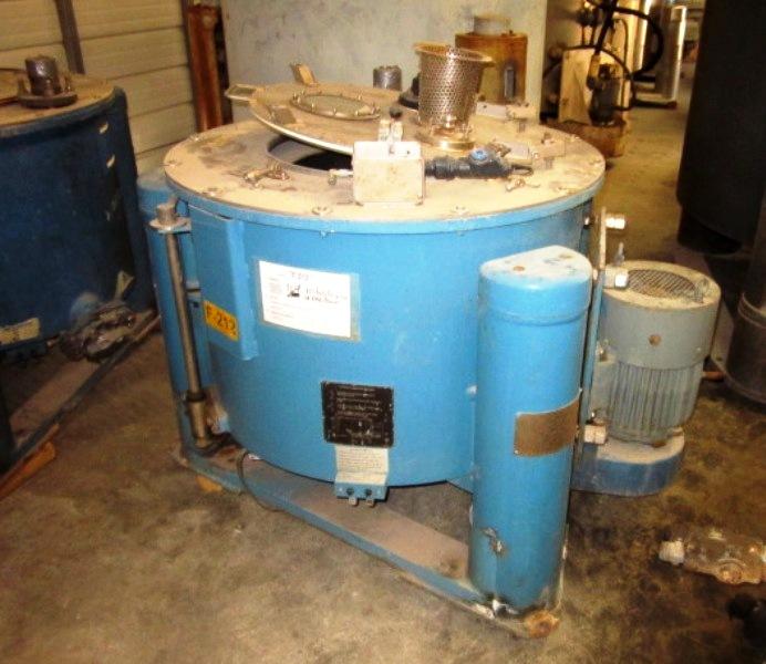 (5) Tolhurst 30 x 12 perforate basket centrifuges, rubber-lined.