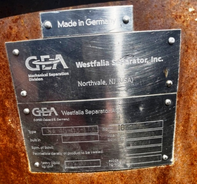 (2) Westfalia SA 45-03-177 sanitary separators, 316SS.