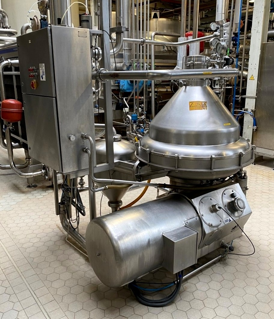 Alfa-Laval MRPX 418 HGV-74C cold milk separator, 316SS.