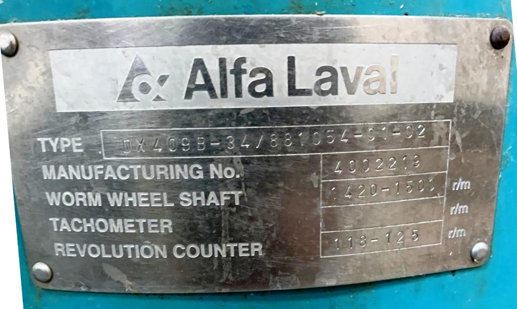 Alfa-Laval DX 409B-34 nozzle centrifuge, 316SS.