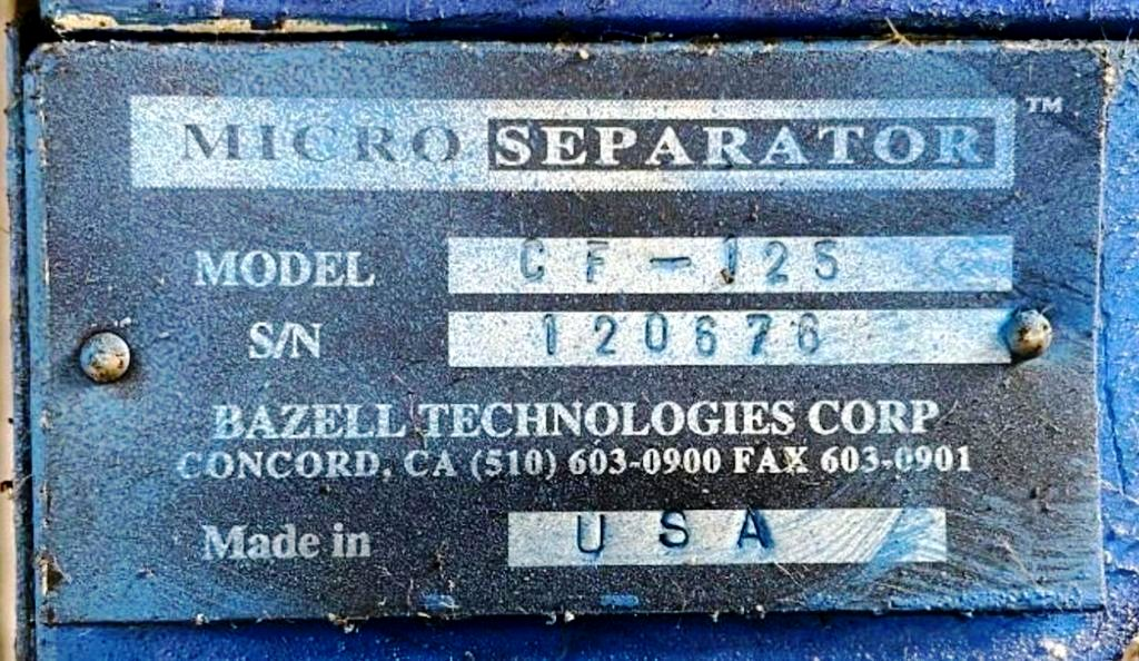 (2) Microseparator CF-125 coolant clarifiers, 304SS.