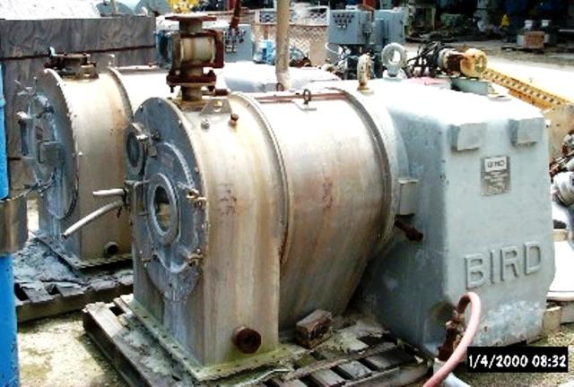 (2) Bird/Escher-Wyss ML-500-2 pusher centrifuges, 316SS.