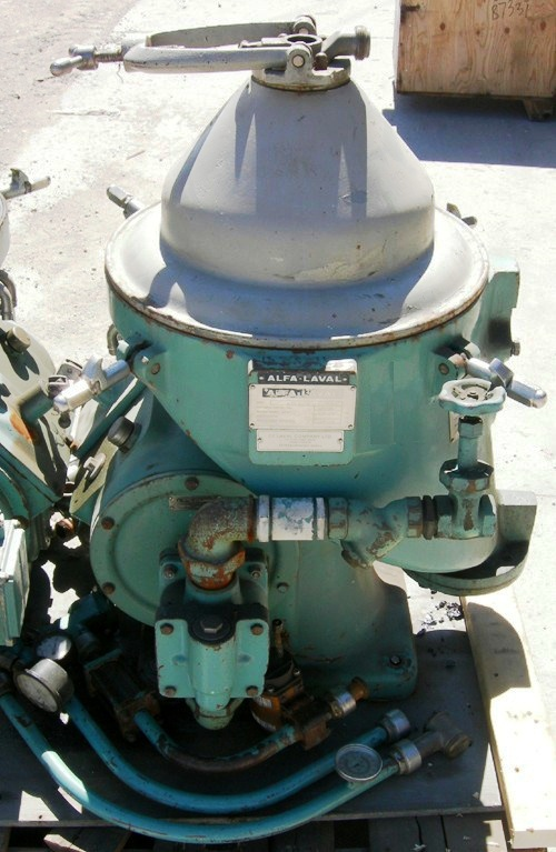 (2) Alfa-Laval WHPX 505 TGD-24-60 oil purifiers, SS bowl.