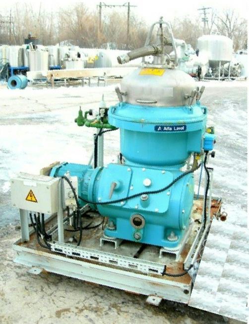 (2) Alfa-Laval WSPX 207 TGP-74 oil concentrators, 316SS.