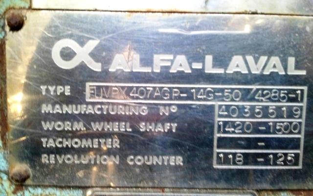 Alfa-Laval FUVPX 407 AGP-14 sanitary separator, 316SS.