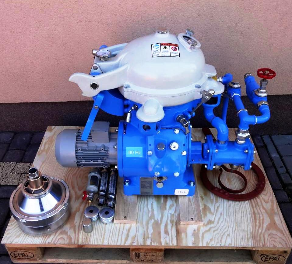 (2) Alfa-Laval MAB 104B-24-60 oil purifiers, SS.