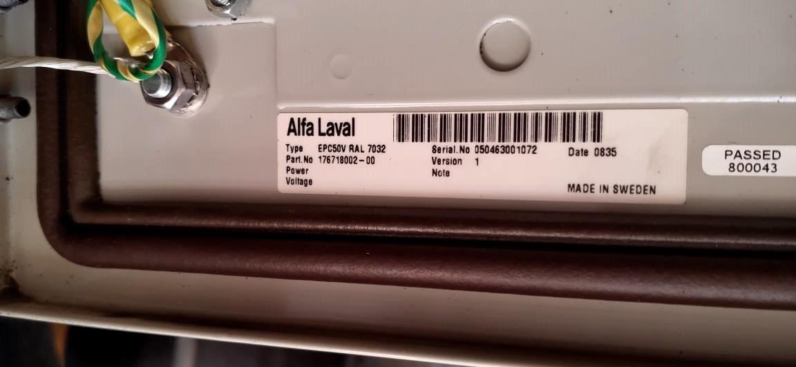 (3) Alfa-Laval EPC-50 V control units.