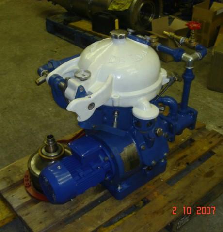 Alfa-Laval MAB 103B-24-60 oil purifiers, SS.