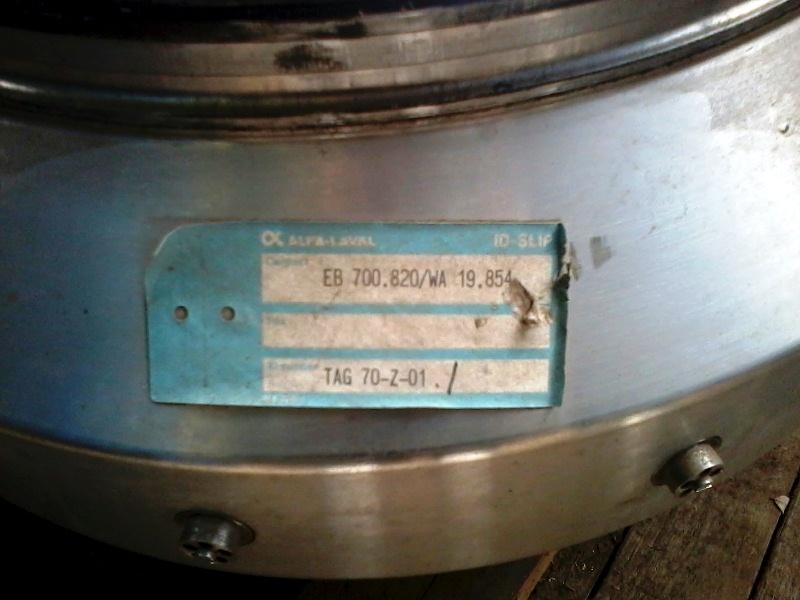 (2) Alfa-Laval FEUX 512U-31C nozzle centrifuges, 316SS.