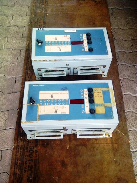(2) Alfa-Laval LOPX 709 SFD-34-60 lube oil purifiers, SS.