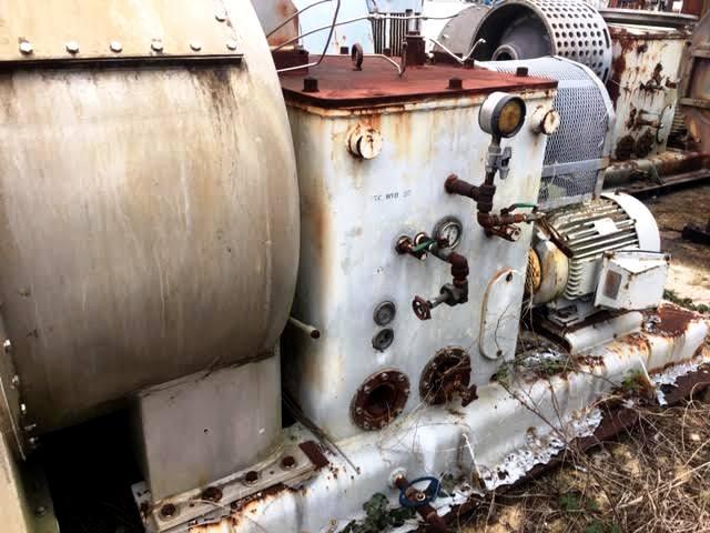 (3) Krauss-Maffei SZ 90-1-L pusher centrifuges, 316SS.