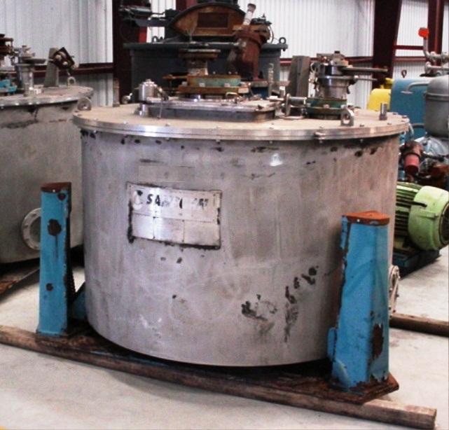 (2) Sanborn 60 x 30 perforate basket centrifuges, 316SS.