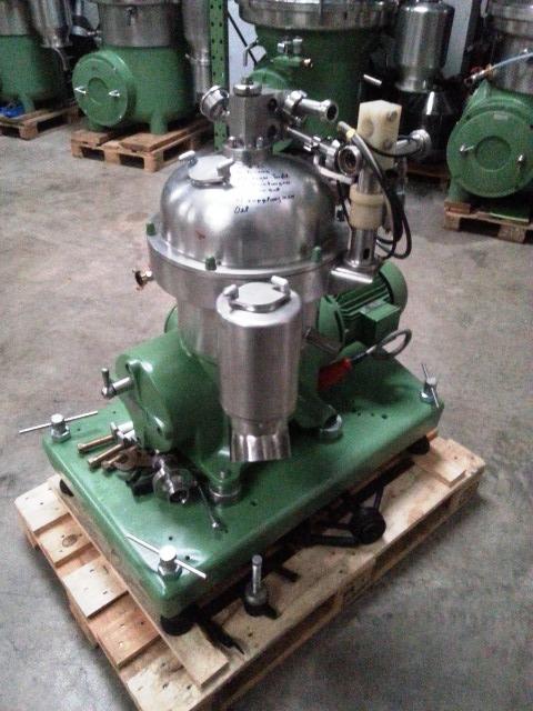 (2) Westfalia SA 7-06-076 clarifier centrifuges, 316SS.