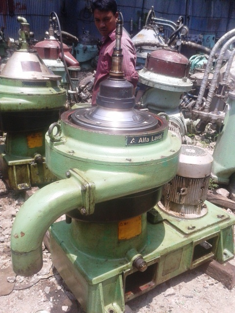 (2) Alfa-Laval MFPX 307 TFD-21 oil purifiers, 316SS.