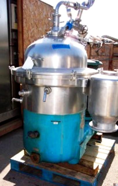 (2) Westfalia SAMR 15037 clarifier centrifuges, 316SS.