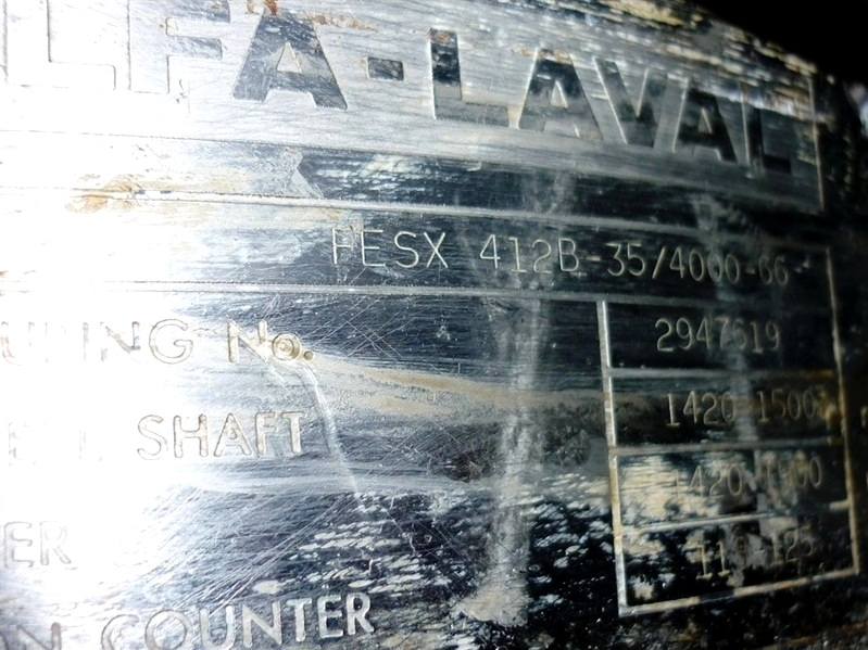 (4) Alfa-Laval FESX 412B-35 nozzle centrifuges, 316SS.