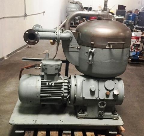 (3) Alfa-Laval B-214C diesel fuel separators, SS.