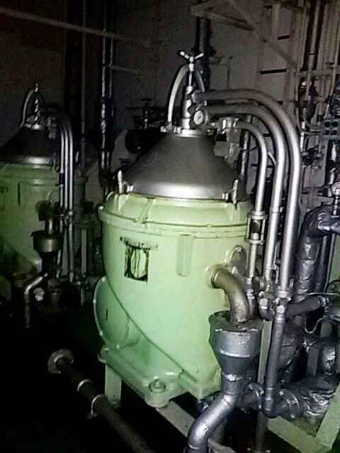 (2) Alfa-Laval FOPX 610 TFD-24-60 oil purifiers, 316SS.