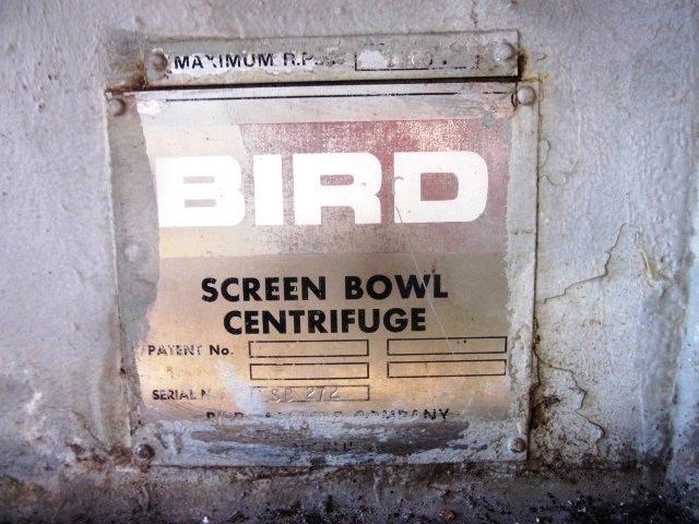 (2) Bird 36 x 96 screen bowl decanter centrifuges, 316SS.