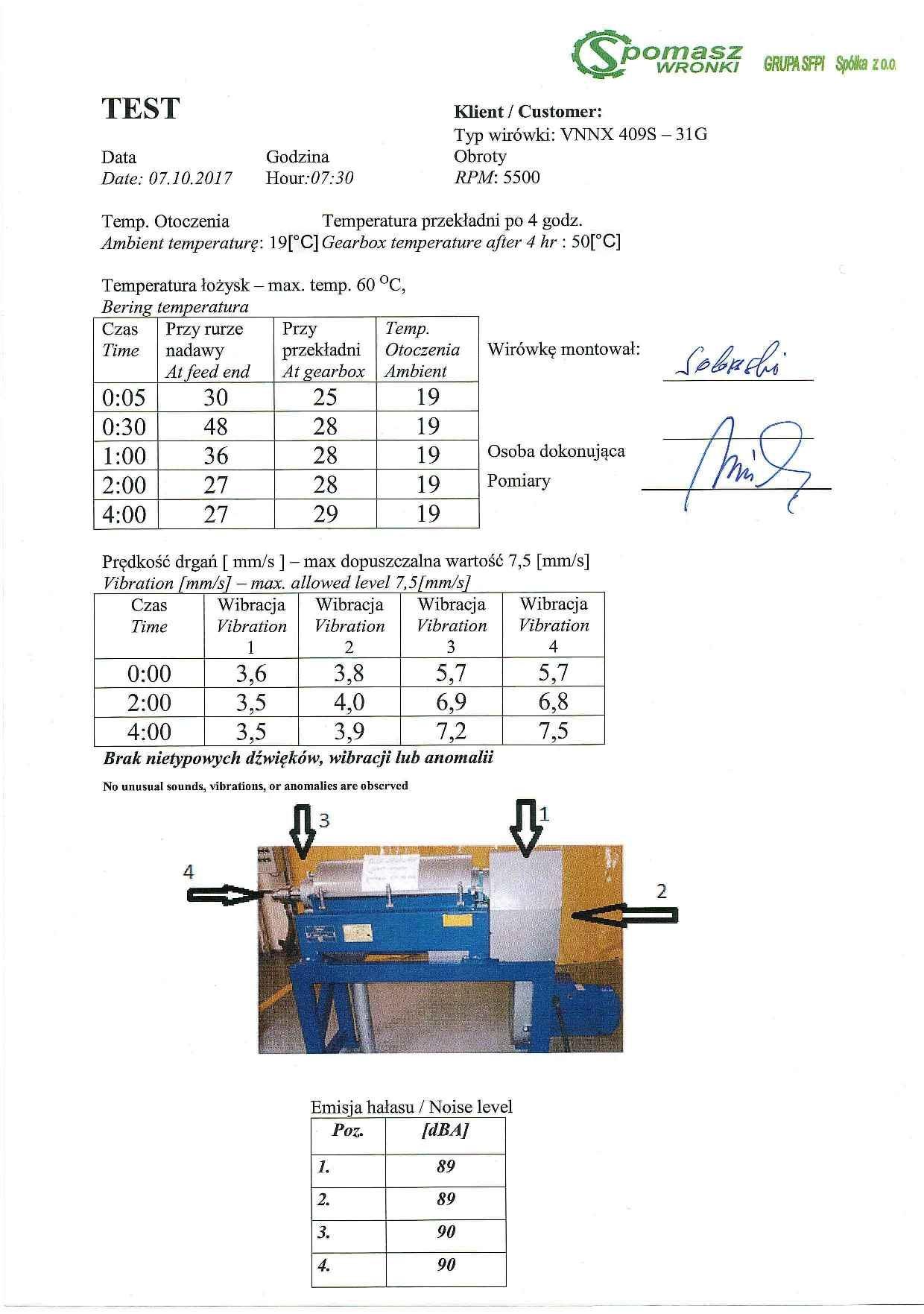 Alfa-Laval VNNX 409S-31G sanitary decanter, 316SS.