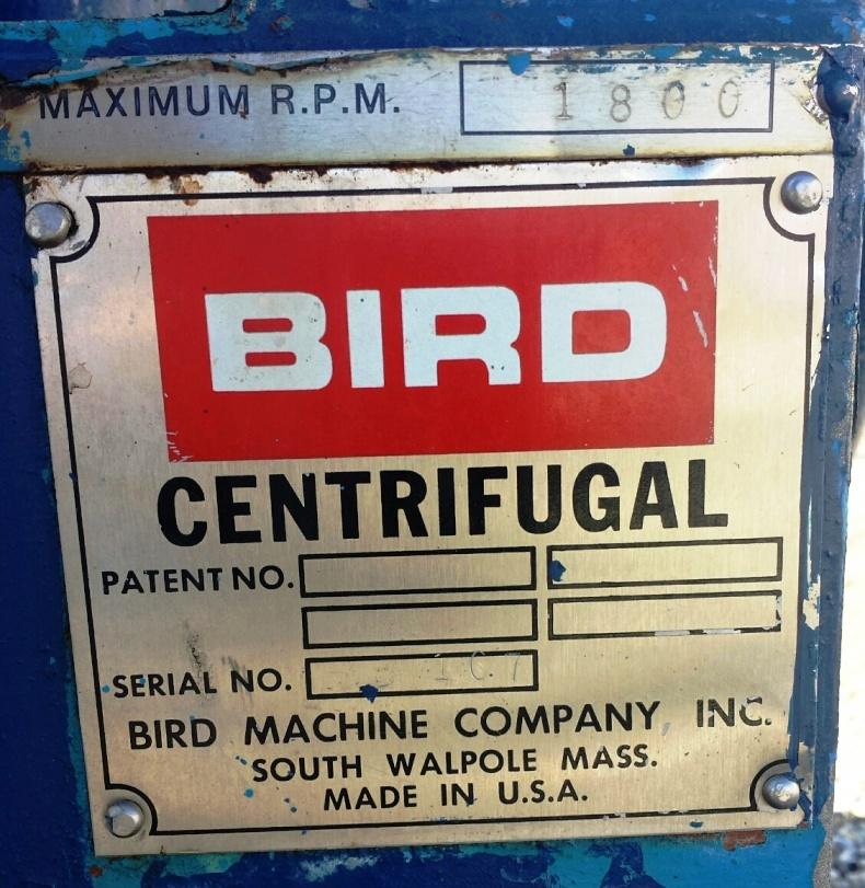 (2) Bird HB-2500 solid bowl decanter centrifuges, 316SS.