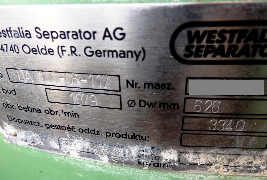 (2) Westfalia DA 100-06-117 nozzle centrifuges, 316SS.