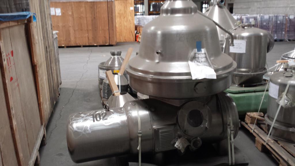 (2) Westfalia MSA 200-01-076 milk separators, 316SS.