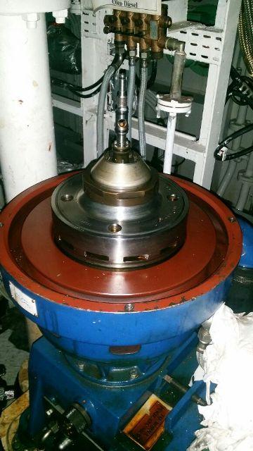 (3) Alfa-Laval P-605 SGP-11 lube oil purifiers, SS.