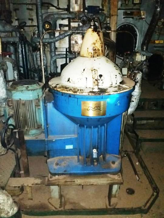 (3) Alfa-Laval S-967 fuel/lube oil purifiers, 316SS.