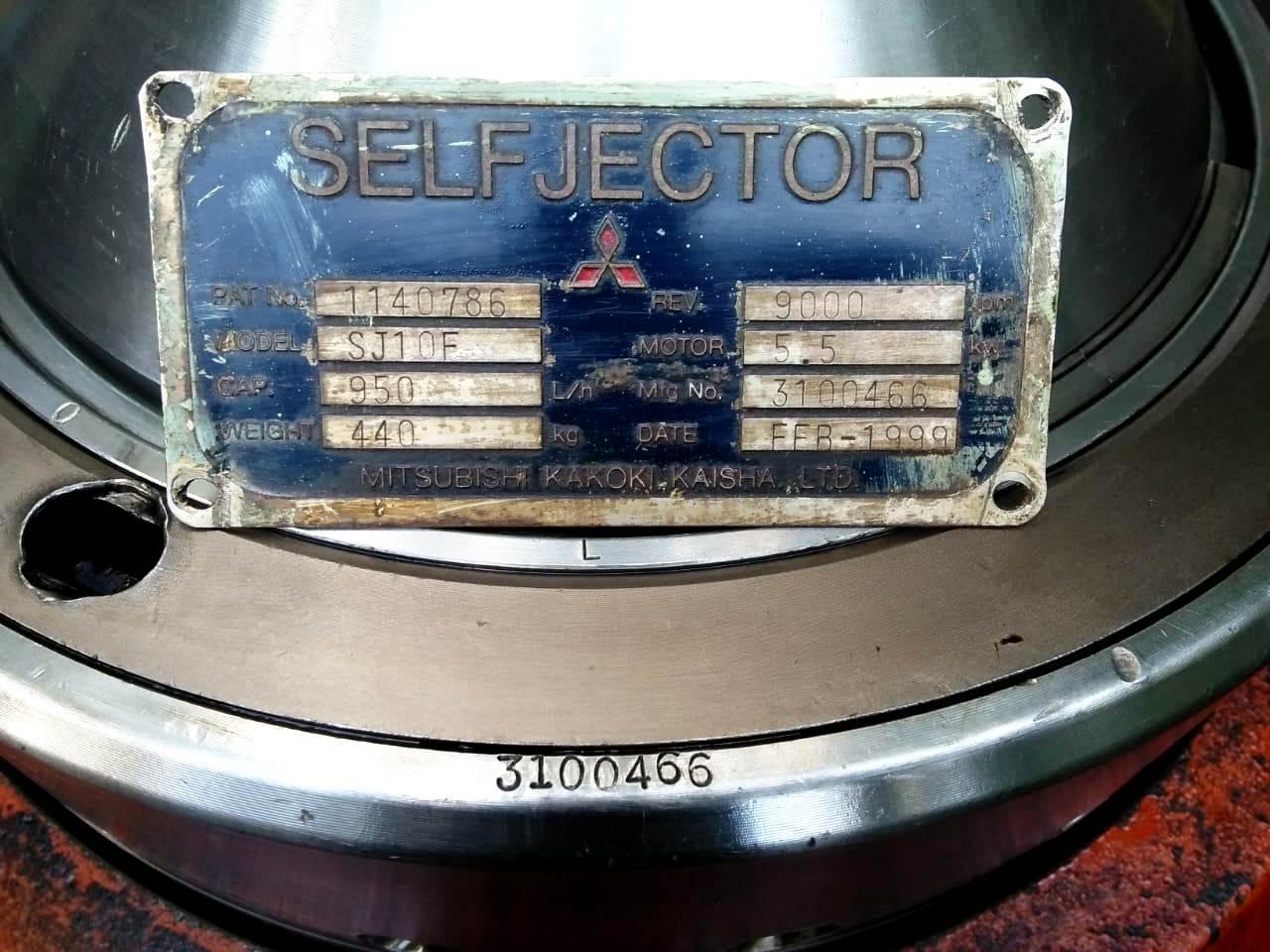 (3) Mitsubishi SJ-10F self-cleaning oil purifiers, SS bowl.