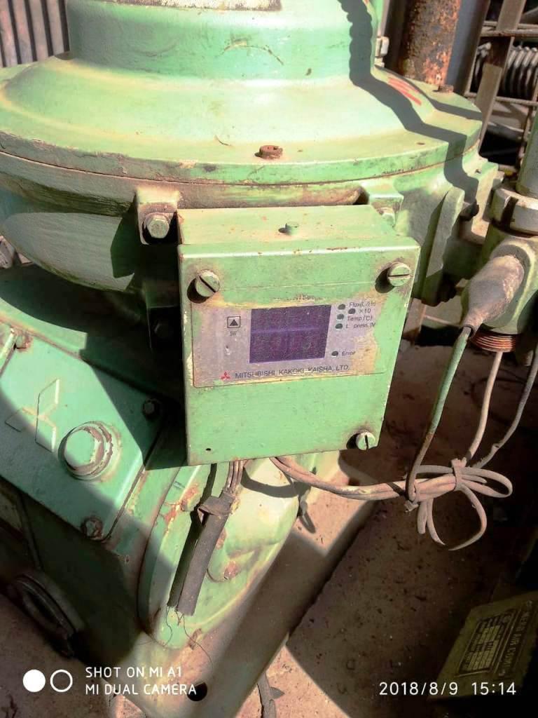 (2) Mitsubishi SJ-10G self-cleaning oil purifiers, SS bowl.