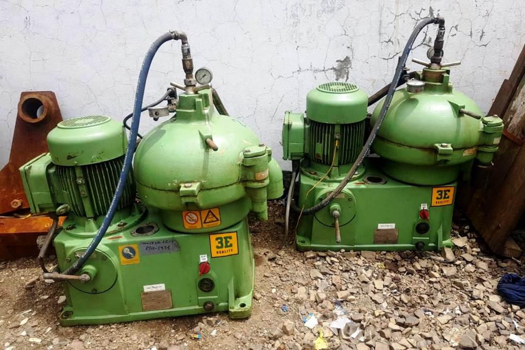 (2) Westfalia OSC 15-02-067/7 lube oil purifiers, SS.