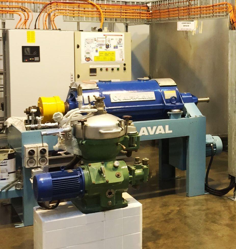 Alfa-Laval UVNX 714B-11G tricanter centrifuge, 316SS.