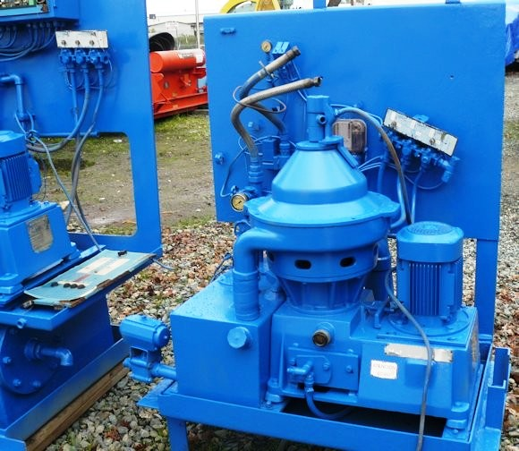 (4) Alfa-Laval MMPX 304 SGP-11-60 oil purifiers, 316SS.