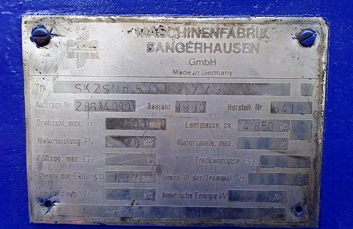 (2) Sangerhausen 20 x 60 solid bowl decanters, 316SS.