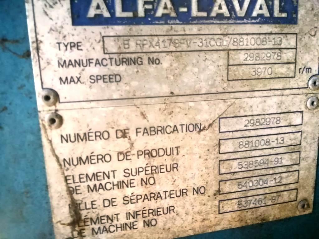 Alfa-Laval BRPX 417 SFV-31CGL clarifier, 316SS.
