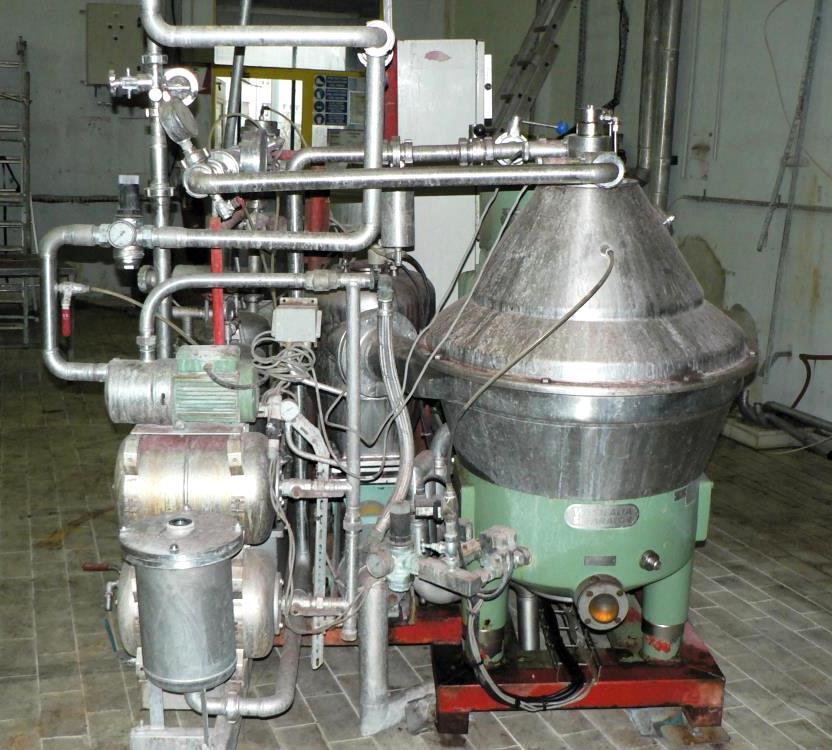 (2) Westfalia SC 35-06-177 Hydrostop clarifiers, 316SS.