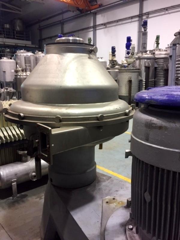 Alfa-Laval BRPX 417 SFV-31CGL-50 clarifier, 316SS.