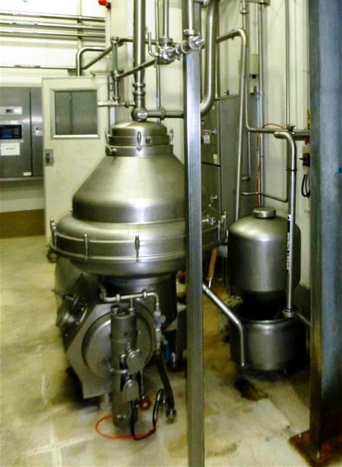 Alfa-Laval MRPX 318 TGV-74C-60 warm milk separator, 316SS.