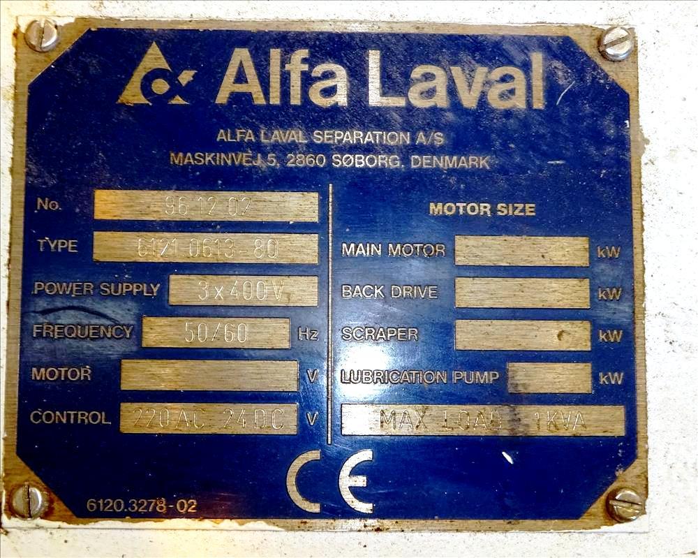 Alfa-Laval DSNX 4850 decanter centrifuge, 2205 SS.