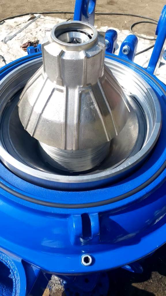 (2) Alfa-Laval MOPX 207 SGT-24 oil purifiers, 316SS.