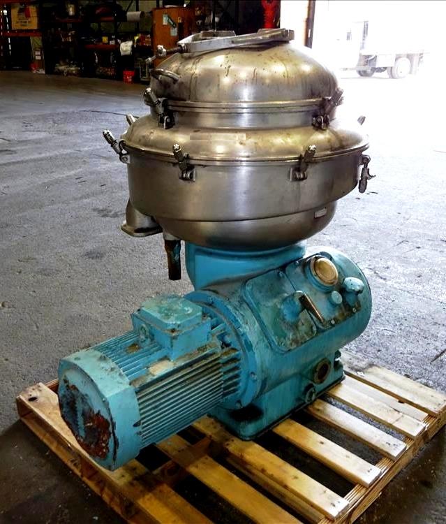 Alfa-Laval SRPX 213 HGV-14H vegetable oil separator, 316SS.