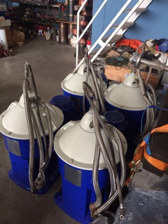 (4) Alfa-Laval S-826 fuel/lube oil purifiers, 316SS.
