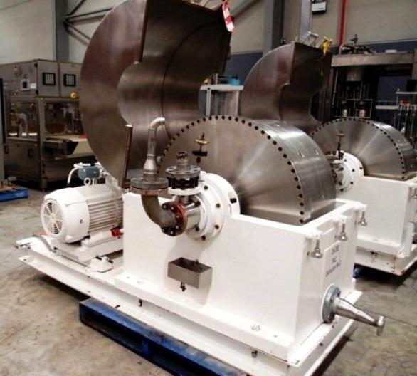 (2) Podbielniak D-18 centrifugal contactors, 316SS.